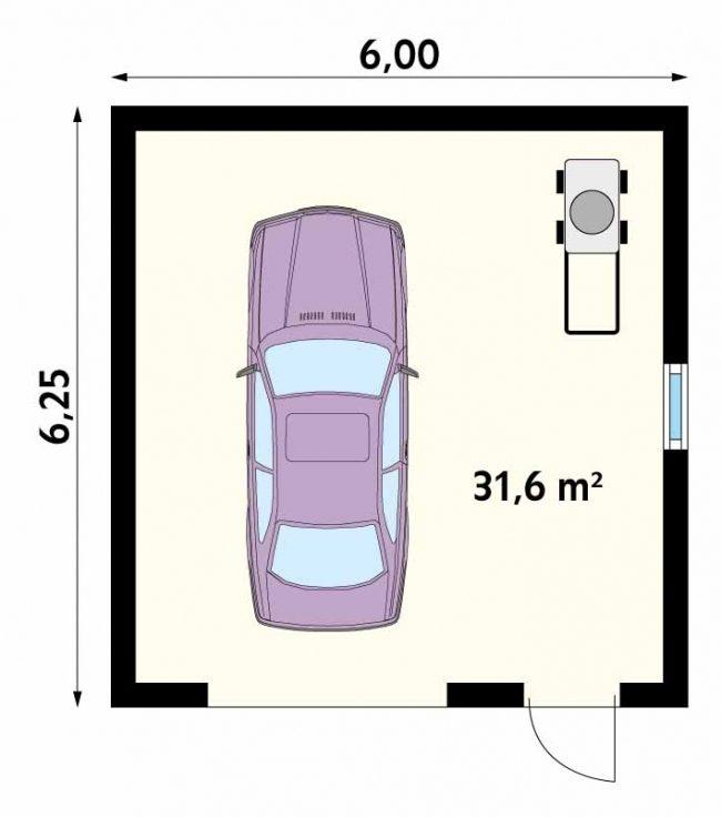 Проект гаража-81