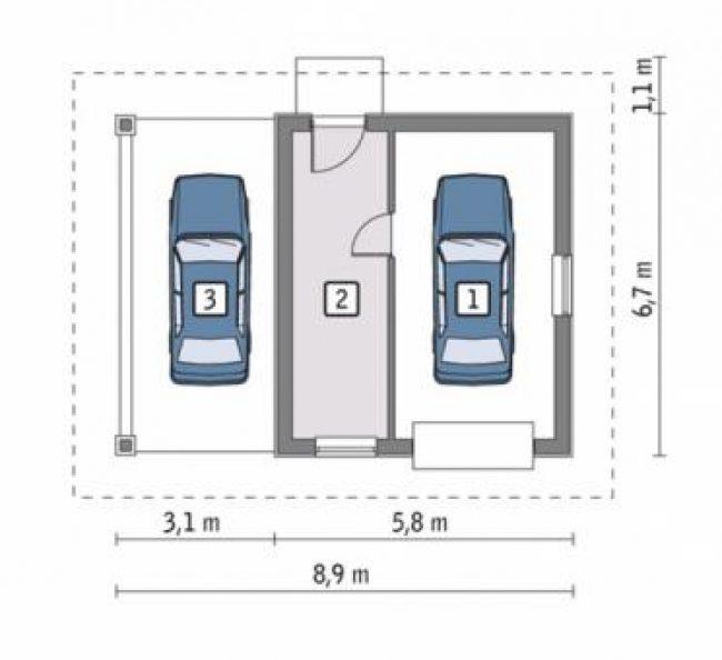 Проект гаража-170