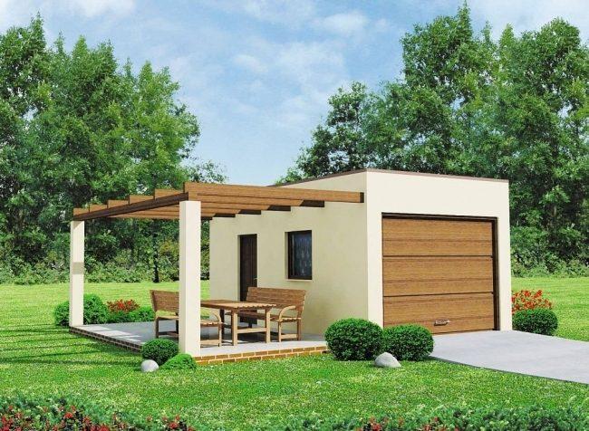 Проект гаража-145