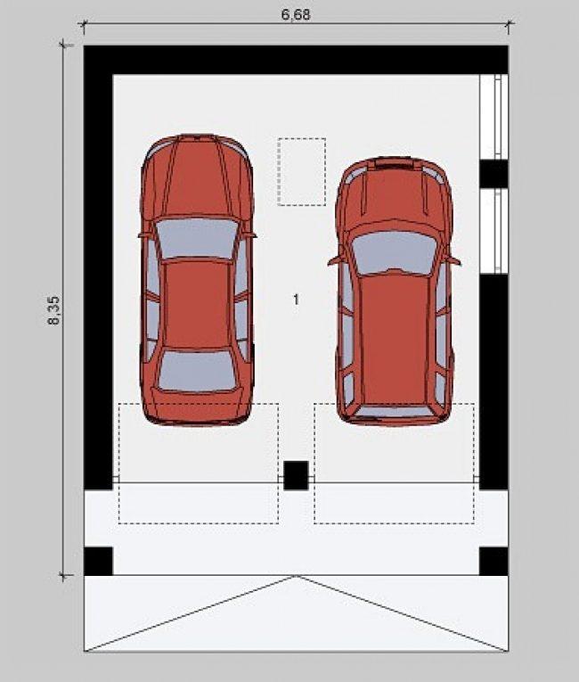 Проект гаража-158