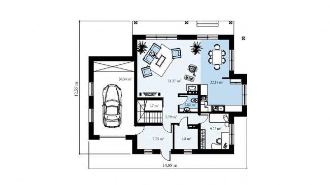 Проект дома-110