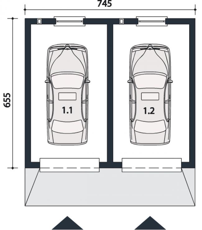 Проект гаража-96